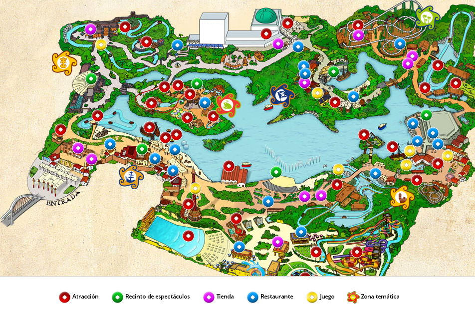 mapa isla magica Entradas a Isla Mágica mapa isla magica