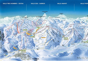Mapa estaci�n esqu� Formigal